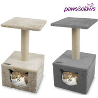 Hideaway Cat Tree House Bed Sisal Rope Scratching Post