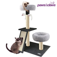Paws & Claws Cat Tree Scratching Post with Double Lounge