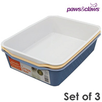 3 x Cat Litter Tray Toilet Pan