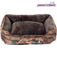 Large Camouflage Walled Puppy Dog Bed