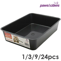 Plastic Black Cat Litter Tray