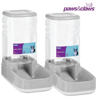 Pet Dog Cat Water Food Dispenser Set 3.8L
