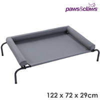 Elevated Bolster Pet Dog Raised Bed 122x72x29cm
