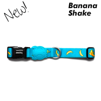 Zee.Dog Banana Shake Dog Collars - 3 Sizes