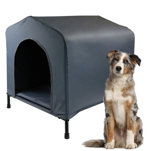 Canvas Elevated Waterproof Pet Dog Kennel House Medium