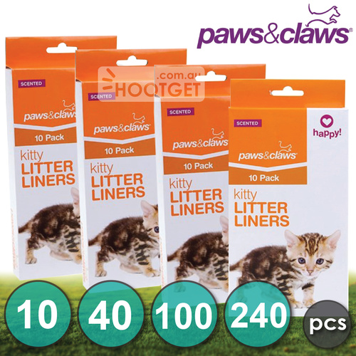Cat Kitty Litter Liners Scented Bags Poo Bags - 10pcs