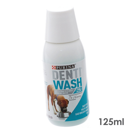 Purina Denti Wash Dental Water Additive For Dogs 125ml