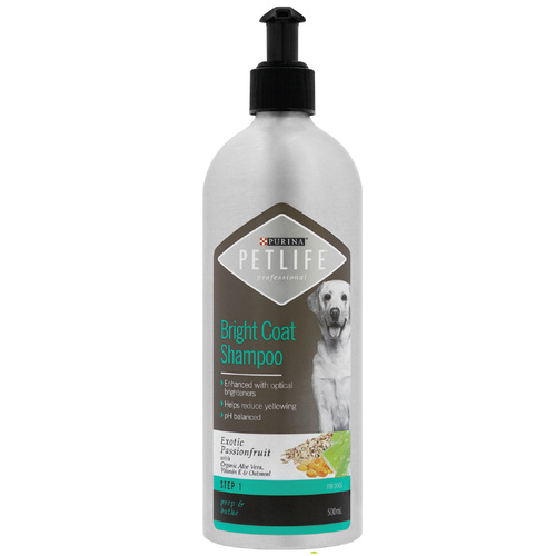 Purina Petlife Professional Bright Coat Shampoo for Dogs - 500ml