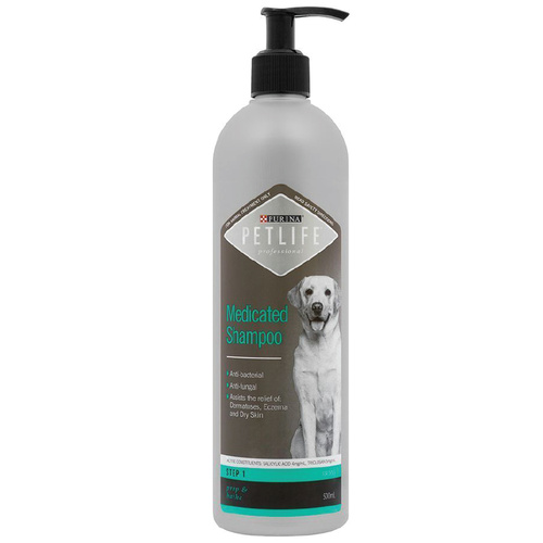 Purina PetLife Professional Medicated Shampoo for Dogs - 500ml