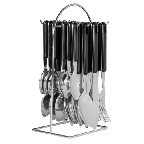Avanti Hanging Cutlery Set 24 Piece Black