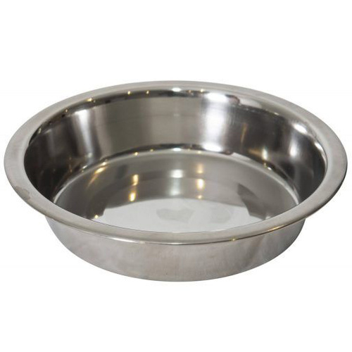 Stainless Steel Flat Puppy Dish Bowl 15cm