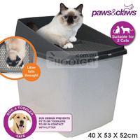 No Mess Top Entry Cat Litter Box Tray