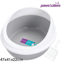 Cat Litter Tray Rim with Scoop 47 x 41 x 22cm
