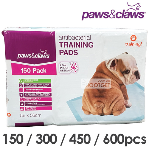 Paws and Claws Pet Dog Puppy Training Pad 150pcs