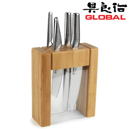 Global TEIKOKU 5 Piece Knife Block Set