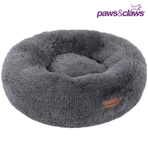Paws & Claws Round Calming Plush Cat Dog Bed Large